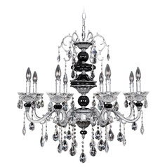 Faure 8 Light Crystal Chandelier