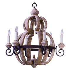 Maxim Lighting Olde World Senora Wood Chandelier