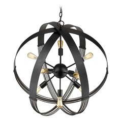 Golden Lighting Carter Aged Bronze Pendant Light