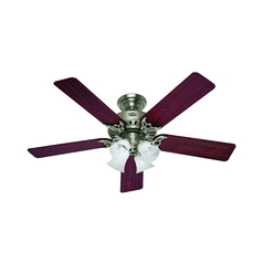 Hunter Fan Company Studio Series Brushed Nickel Ceiling Fan with Light