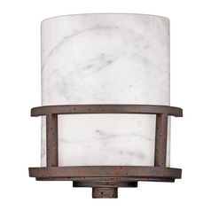 Sconce with White Onyx in Iron Gate Finish