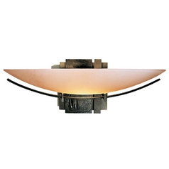 Hubbardton Forge Lighting Oval Sconce with Glass Shade 20-7370-03-H90