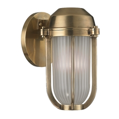 Hudson Valley Lighting Pompey Aged Brass Sconce