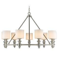 Golden Lighting Beckford Pw Pewter Chandelier