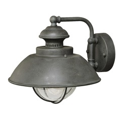Harwich Textured Gray Outdoor Wall Light by Vaxcel Lighting