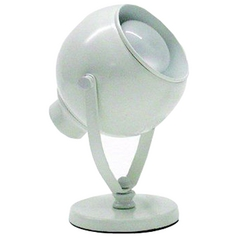 Modern Up Light Lamp in White Finish