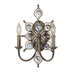Sconce Wall Light in Burnished Silver Finish