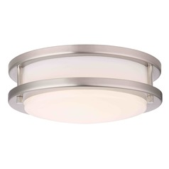 Design Classics Mee Satin Nickel LED Flushmount Light