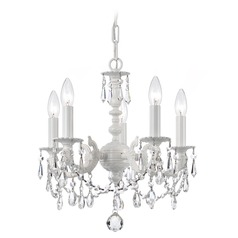 Crystorama Lighting Paris Market Wet White Crystal Chandelier