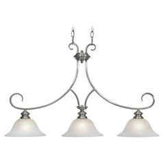 Golden Lighting Lancaster Pewter Island Light with Bell Shade