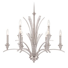 Designers Fountain Grand Plazza Satin Platinum Chandelier