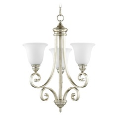 Quorum Lighting Bryant Aged Silver Leaf Mini-Chandelier