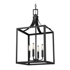 Sea Gull Lighting Labette Black Pendant Light