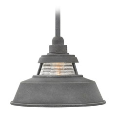 Farmhouse Barn Light Outdoor Hanging Light Aged Zinc by Hinkley
