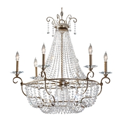 Crystal Chandelier in Burnished Silver Finish