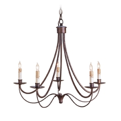 Modern Chandelier in Hand Rubbed Bronze Finish