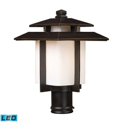 Elk Lighting Kanso Hazlenut Bronze LED Post Light