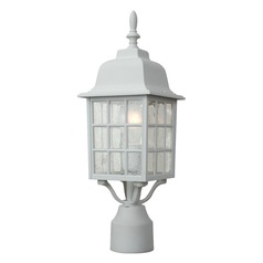 Craftmade Lighting Grid Cage Matte White Post Light