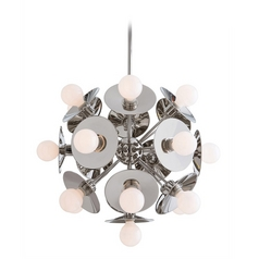 Arteriors Home Lighting Keegan Polished Nickel Pendant Light