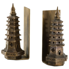 Cyan Design Pagoda Gold Leaf Bookend
