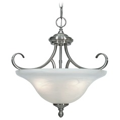 Golden Lighting Lancaster Pewter Pendant Light