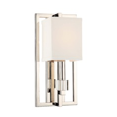Crystorama Lighting Dixon Polished Nickel Sconce