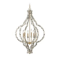 Elk Lighting Agate Stones Satin Brass Chandelier