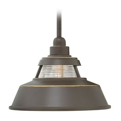 Farmhouse Barn Light Outdoor Hanging Light Bronze by Hinkley Lighting