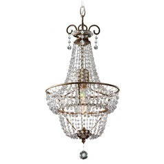 Crystal Beaded Mini Chandelier by Feiss