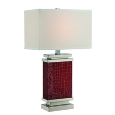 Lite Source Lighting Kelis Brown Table Lamp with Rectangle Shade