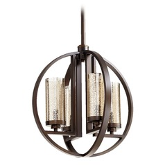 Quorum Lighting Julian Oiled Bronze Pendant Light with Cylindrical Shade