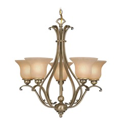 Monrovia Antique Brass Chandelier by Vaxcel Lighting