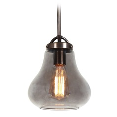 Access Lighting Flux Distressed Bronze LED Mini-Pendant Light with Bowl / Dome Shade