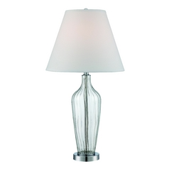 Lite Source Lighting Emilie Chrome Table Lamp with Coolie Shade