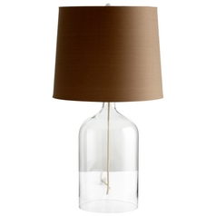 Cyan Design See Through Clear Table Lamp with Drum Shade