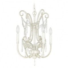 Capital Lighting Capital Chandelier French White Mini-Chandelier