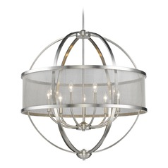 Golden Lighting Colson Pw Pewter Chandelier