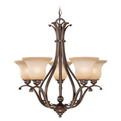 Monrovia Royal Bronze Chandelier by Vaxcel Lighting