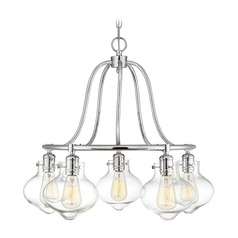 Polished Chrome Chandelier Allman Collection by Savoy House