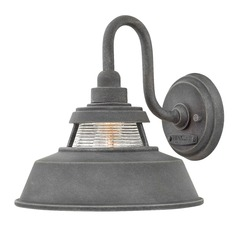 Farmhouse Barn Light Outdoor Wall Light Aged Zinc by Hinkley Lighting