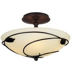 Asian ceiling lights destination lighting two light semi flush ceiling light aloadofball Choice Image