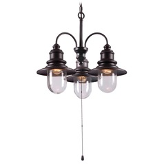 Kenroy Home Lighting Broadcast Oil Rubbed Bronze with Copper Highlights Outdoor Chandelier