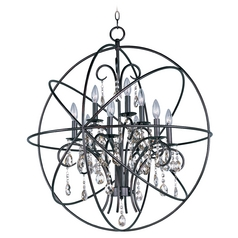 Maxim Lighting Orbit Oil Rubbed Bronze Pendant Light with Globe Shade