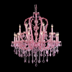 Avenue Lighting Sunset Pink Crystal Chandelier
