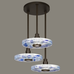Fine Art Lamps Crystal Bakehouse Bronze Multi-Light Pendant with Drum Shade