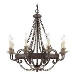 Savoy House Fossil Stone Chandelier