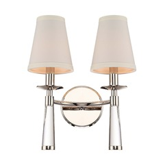Crystorama Lighting Baxter Polished Nickel Sconce