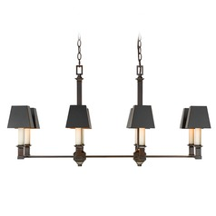 Golden Lighting Bradley Cordoban Bronze Island Light with Square Shade