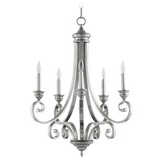 Quorum Lighting Bryant Classic Nickel Chandelier