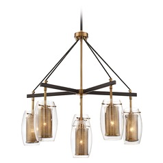 Savoy House Lighting Dunbar Warm Brass / Bronze Chandelier